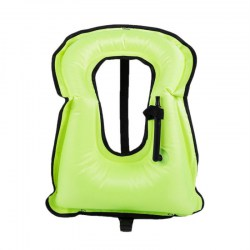 Adult Life Jacket Snorkeling Gear Swimwear Oral Inflation Inflatable Vest