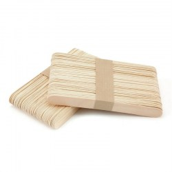 100pcs Wooden Tongue Depressor Waxing Wax Spatula Disposable Medical Sticks