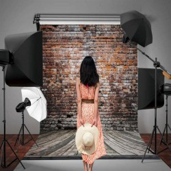 1.5*2.1M Photography Vintage Brick Wall Backdrop Foldable Background Cloth