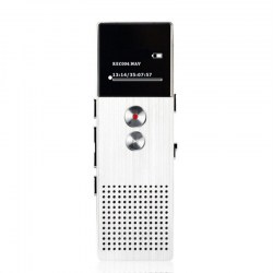 HD Dual Microphone Recording Digital Voice Recorder MP3 Player Support TF Card