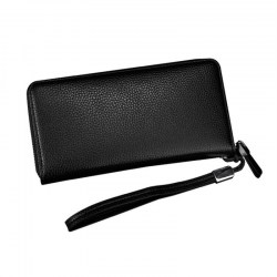 Business Large Capacity Men Long Wallet PU Leather Money Holder Organizer