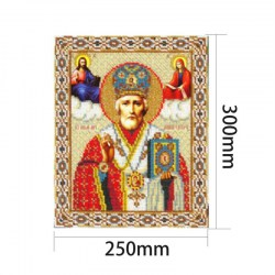 5D DIY Diamond Painting Cross Stitch Religion Icon of Leader Diamond Mosaic