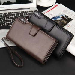 Casual Hasp Open PU Leather Men Wallet High Large Capacity Unique Decor