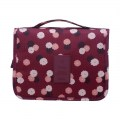 Waterproof Polyester Makeup Bag Travel Beauty Hanging Type Cosmetic Bag