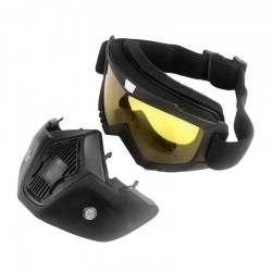 Motorcycle Unisex Vintage Half Helmet Riding Mask Off-road Windproof Goggles