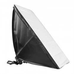 Softbox with Single Lamp Socket Continuous Lighting System with 2 Support Stand