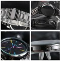Colorful Dial Quartz Wrist Watches for Men & Women Steel Band Watches