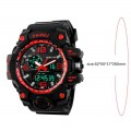 SKMEI 1155 Men Sports Watch Luminous Digital LED 5ATM Waterproof Men Watch