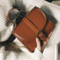 Trendy Vintage Women PU Leather Messenger Bag Casual Handbags Shoulder Bag