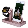 2-in-1 Charging Dock Stand Charger ABS Holder For Apple Watch For iPhone