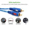 1.5/3/5M 3.5MM Male To 2RCA Male Stereo Audio Cable One To Two AUX Audio Cable