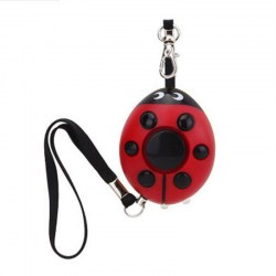 Beetle Shaped Personal Security Alarm With LED Light Self Defense Keychain