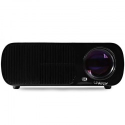 UhAPPy U - 20 LCD Projector 2600LM 800 x 480 Pixels with IR Remote Control / Keystone Correction Support 1080P