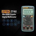ZT102 Mini 6000 Counts Digital Multimeter AC/DC Voltage Current Tester