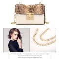 Fashion Snakeskin Pattern Lady Bag Women Shoulder Bag All-match Crossbody Bag
