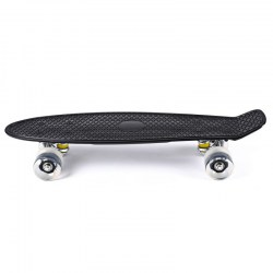 22 Inches Cruiser Four-wheel Banana Style Plastic Board Deck with LED Flashing Wheels