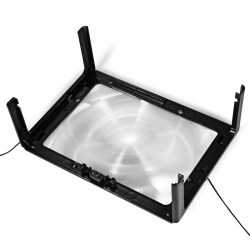 4 LED Lights Foldable Desk A4 Full Page Large Reading Hands Free 3X Magnifier for Reading
