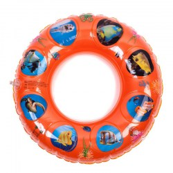 Multiple Colors Double Layer Swimming Ring Thickened PVC Inflatable Seat