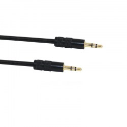 1m Stainless Steel Spring 3.5mm Male to 3.5mm Male AUX Audio Transmission Cable