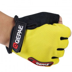 2PCS XL Size Cycling Bike Bicycle Gel Silicone Half Finger Ultra-breathable Gloves