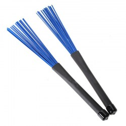 One Pair of 32cm Nylon Retractable Jazz Drum Brushes Telescopic Drumsticks with Rubber Handles