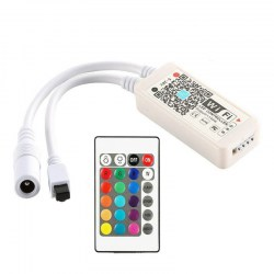 WiFi Wireless RGB LED Smart Controller Working with iOS Android System DC5 - 28V