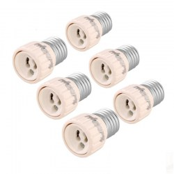 6PCS YouOkLight E27 to GU10 LED Light Lamp Bulb Adapter Converter