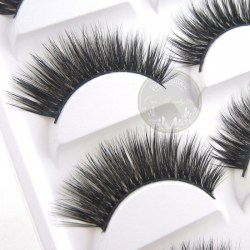 Luxurious 3D False Eyelashes Cross Natural Long Eye Lashes Makeup 10pcs