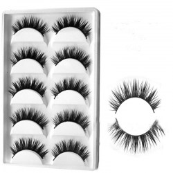 New 3D 15 Pairs Mink Eyelashes Extension Make Natural Long Lashes