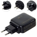 US/AU/UK/EU Plug 5V/2.1A Ultra Compact Dual USB Power Adapter Wall Charger