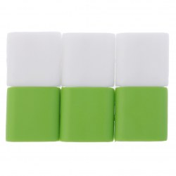 2015 silicone green + white latest explosion models high quality 6 PCS Silicon