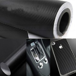 1.27x30cm DIY Carbon Fiber Wrap Roll Sticker For Cars Smart Phone Computer
