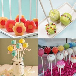 100pcs Chocolate candy paper stick Chocolate Cake Lollipop Holder kitchen gadget