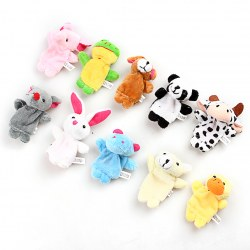 10 x Cartoon Biological Animal Finger Puppet Plush Toys Child Baby Favor Dolls