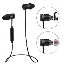 BTH-828 CSR Noise Reduction Metal Bluetooth Headset Heavy Bass Earphones Black