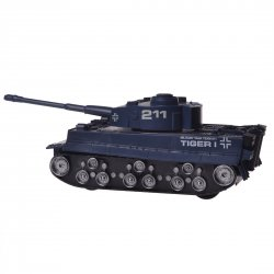 Children Kid Toys Gift Remote Control Tank Rechargeable German Tiger Heavy Tank Model Blue