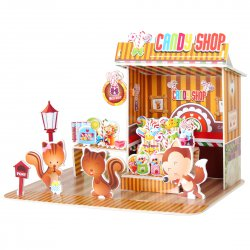Funny Puzzle  3D Puzzle Candy Shop Theme Form Board