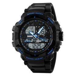 1164 Men's Fashion and Sports Waterproof Watch Blue
