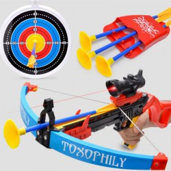 Children Outdoor Sport Toy Bow Sucker Arrow Safety Shooting Crossbow Toy