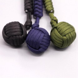 Outdoor Self-defense Survive Hand Weaving Umbrella Rope Ball Key Chain Pendant