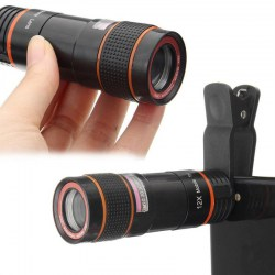 12X Optical Zoomable Camera Telescope Lens with Clip Universal For Smart Phone